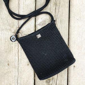 The Sak Black Crochet Crossbody Purse